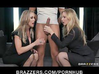 Big-tit blonde MILF sluts Julia Ann & Brandi