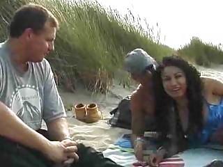 MILF Takes Two on the Beach