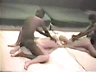 Young blonde wife with black lover - Amateur