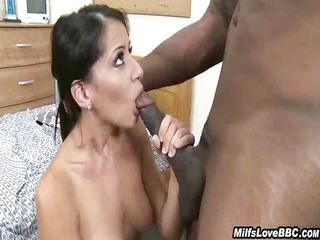 White MILF Rides His Big Black Pole