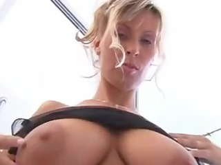 Hot aged lady with large boobs takes a shower