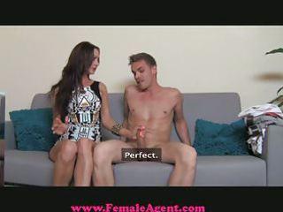 FemaleAgent - MILF exploits shy guy in casting