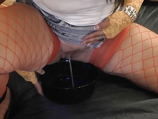 Slut wife likes dirty piss games