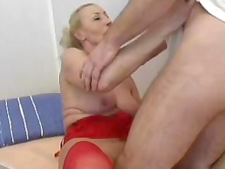 Granny is horny and seduces cameraman to fuck her