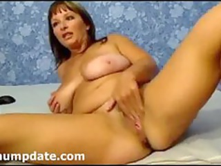 MILF fisting her pussy and toying her ass