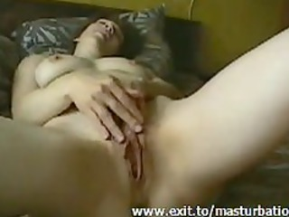 Olga 37 years home solo with spread pussy