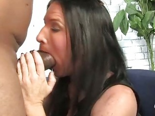 brunette mother gets boned by a big black dong
