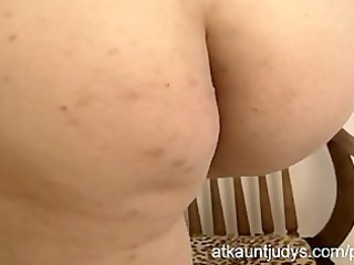 Milf Emily is shy but desperate for her orgasm