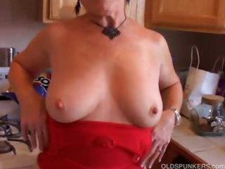Very sexy grandma has a soaking wet pussy