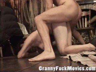 Real hardcore granny porn scene