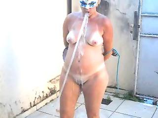 tirando o sal - naked wife after beach -hot