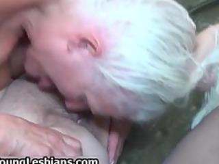 Extreme grandma having lesbian sex part4