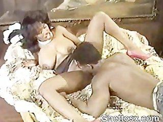 Black Guy Fondling Ebony Milf Juggs And Licking
