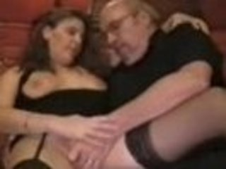 Dirty Wife Fingered By Old Man