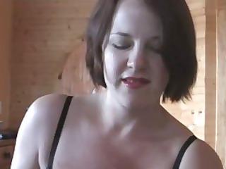 Fuck and Cum Between Moms Tits
