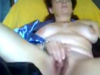 Orgasm of 50 years Milf Lonny for my cam