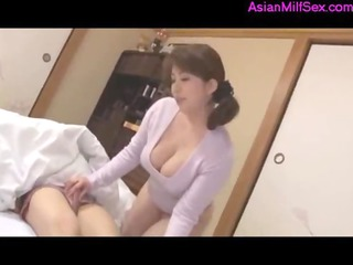 Fat Busty Milf Giving Blowjob For Sleeping Guy