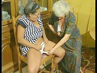 Two grannys discover the joys of a vibrator