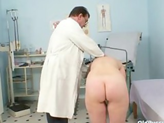 Mature old pussy gyno speculum examination with