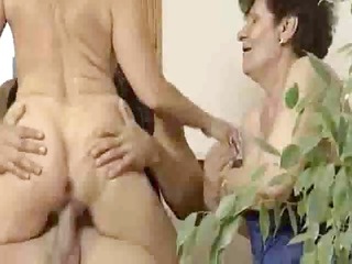 Anal Granny Threesome