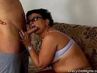 Nasty old mom gets fucked hard !