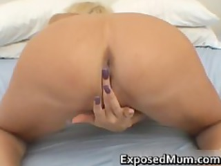 Huge tits mom in thong fingering her part4