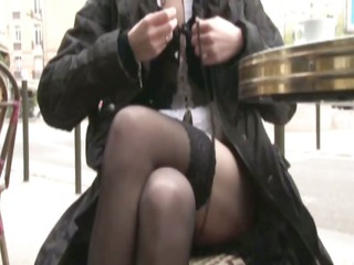 French milf Florence analfucked in stockings