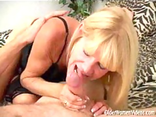 Granny Tanned Blonde In Action. mature mature
