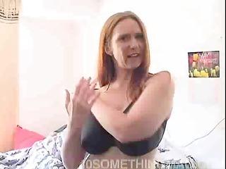 Redhead mom masturbating