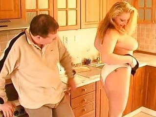 Busty amateur wife blowjob titjob and cumshot