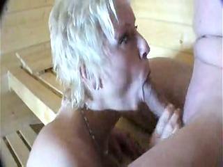 Fucking And Sucking In The Sauna