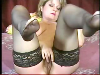 Hawt mother Id like to fuck fingers in stockings