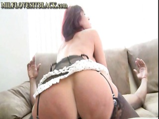 Busty redhead cougar is getting her pussy drilled