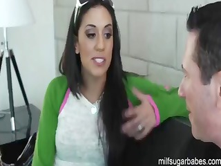 Young MILF Lyla Storm Needs Help Financially Gets