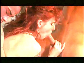 Busty redhead gets filled with cock in her cunt