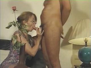 French MILF sucks his cock and gets fucked on a