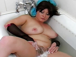 Busty MILF: In the Bath