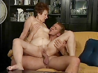 German granny and her young lover