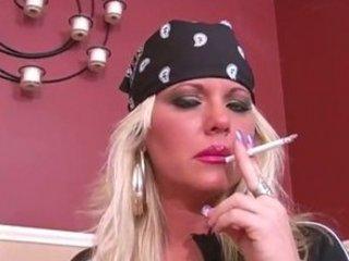 Erin biker milf smoking