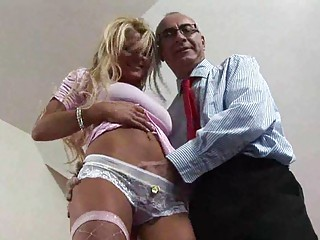 Blonde british milf seduced for some fucking