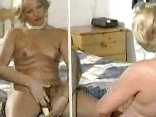 Hairy mature slow tease and dildo play