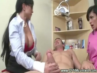 Two female dentists relief a patients pain