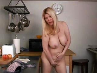 Mature blonde whips up something different in the