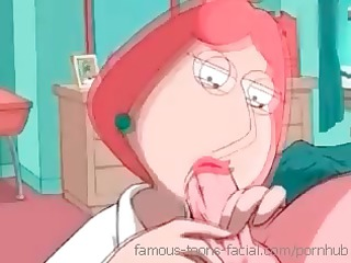 Anime Family Guy gets to stuff his cock in his