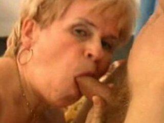 Granny blows and swallows