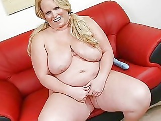 Playful tattooed huge momma with large boom