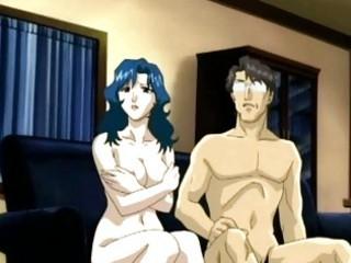 Hentai mom hot sucking stiff cock and fingering