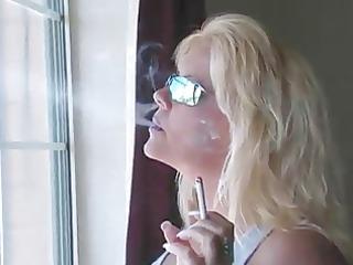 Hot Blonde MILF Smoking Compilation
