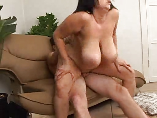 Fucking moms boobs and pussy