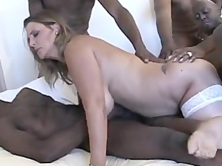 Slut Shelby big tits mature interracial gangbang